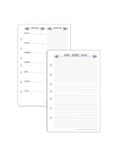Classic Foodie Glossary and Meal Planning Sheets Pack