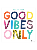 2020 Good Vibes Only Wall Calendar
