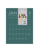 2020 Color Collection Mini Art Grid Calendar