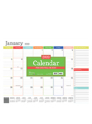 2020 Rainbow Blocks Desk Pad Calendar