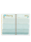 Watercolor Weekly Wire-bound Planner