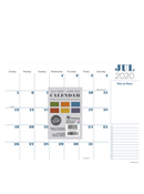 Mini Desk Pad Calendar by TF Publishing