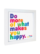 Quotable Framed Print - What Makes You Happy