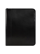 Carter Leather Zipper Binder
