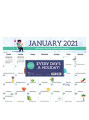 2021 Every Day's A Holiday Desk Pad Calendar