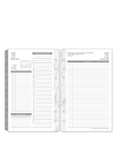 Carrara Two Page Per Day Ring-Bound Planner