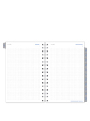 Dot Grid One Page Per Day Wire-bound Planner