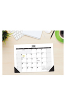 2022 Monthly Black and White Desk Pad 12x17