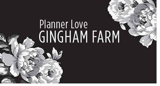 Planner Love Gingham Farm