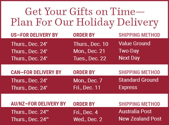Get Your Gifts on Time. Plan For Your Holiday Delivery