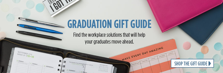 Graduation Gift Guide.  Find the workplace solutions that will help your graduates move ahead.  Shop The Gift Guide